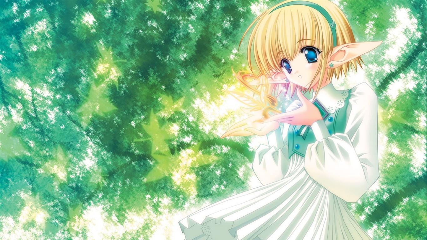 Anime elf m dchen unter b umen 1600x1200 hd - Anime pretty girl wallpaper ...
