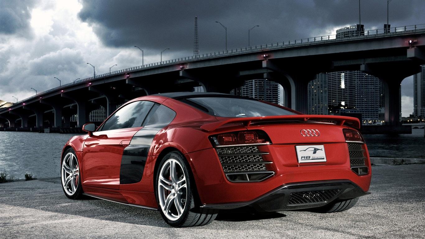 Audi R8 Rouge Fonds D 233 Cran 1366x768 Fonds D 233 Cran De
