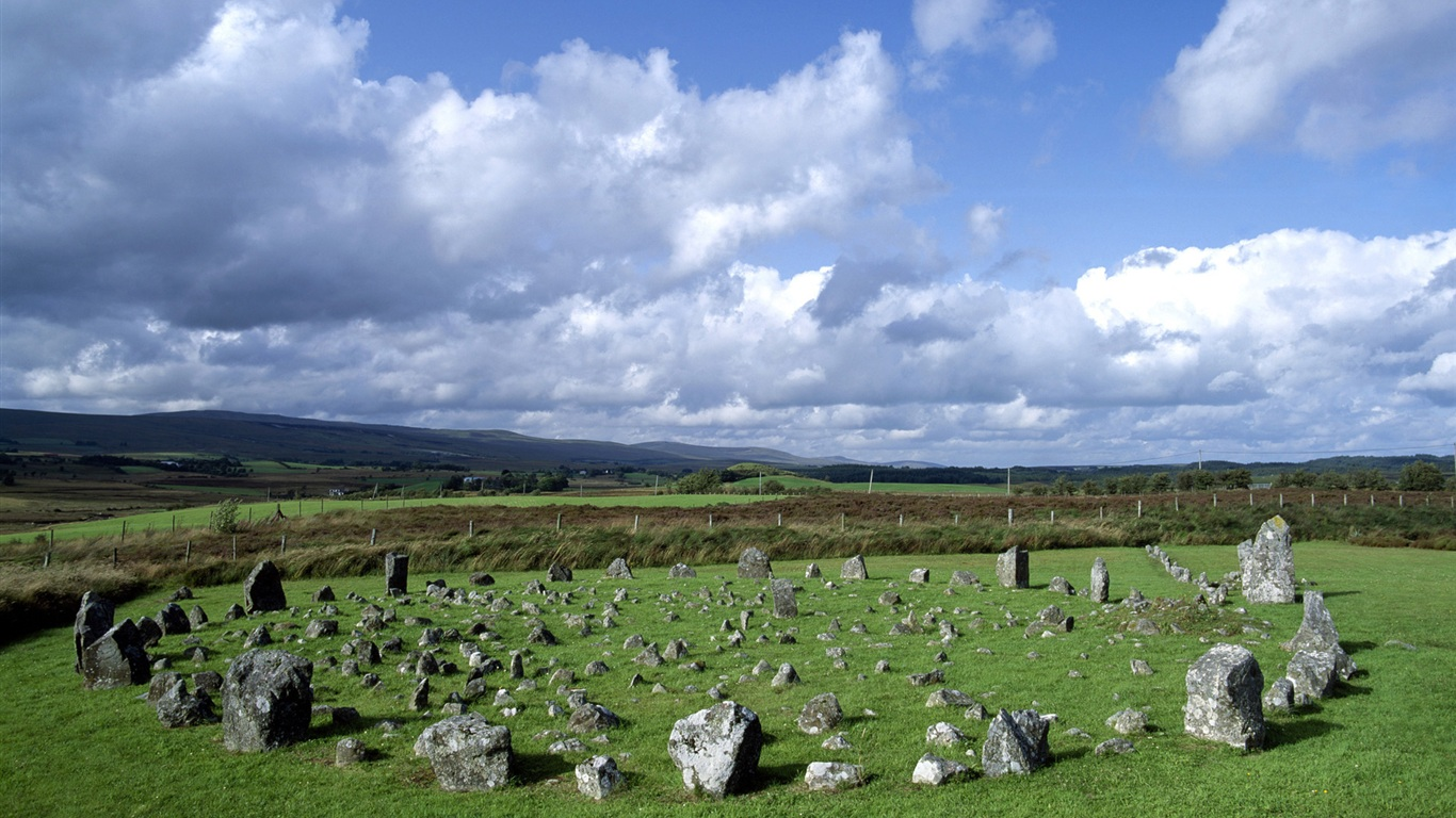 Beaghmore Stone Circles Northern Ireland wallpaper - 1366x768