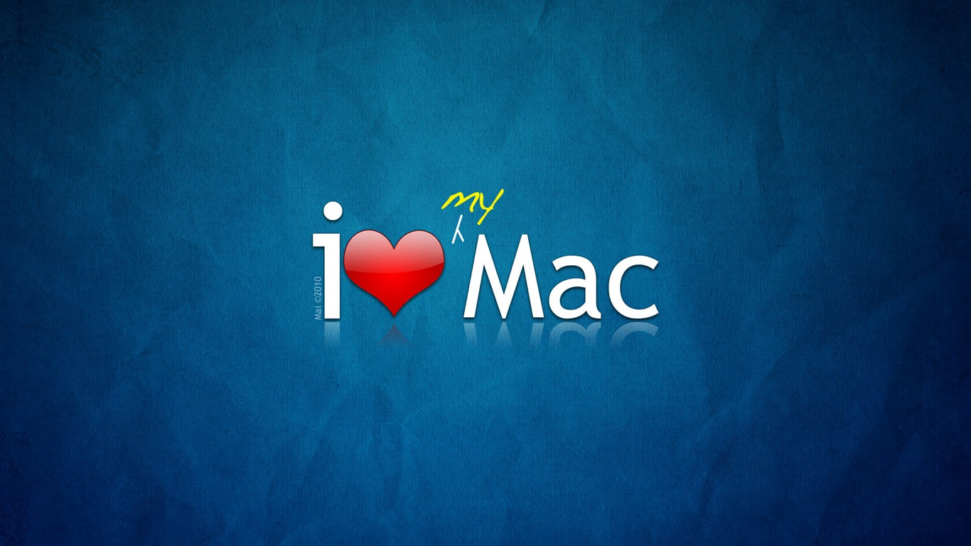 首页 品牌与商标 我爱我的mac 壁纸  我爱我的mac 桌布 - 1366x768图片
