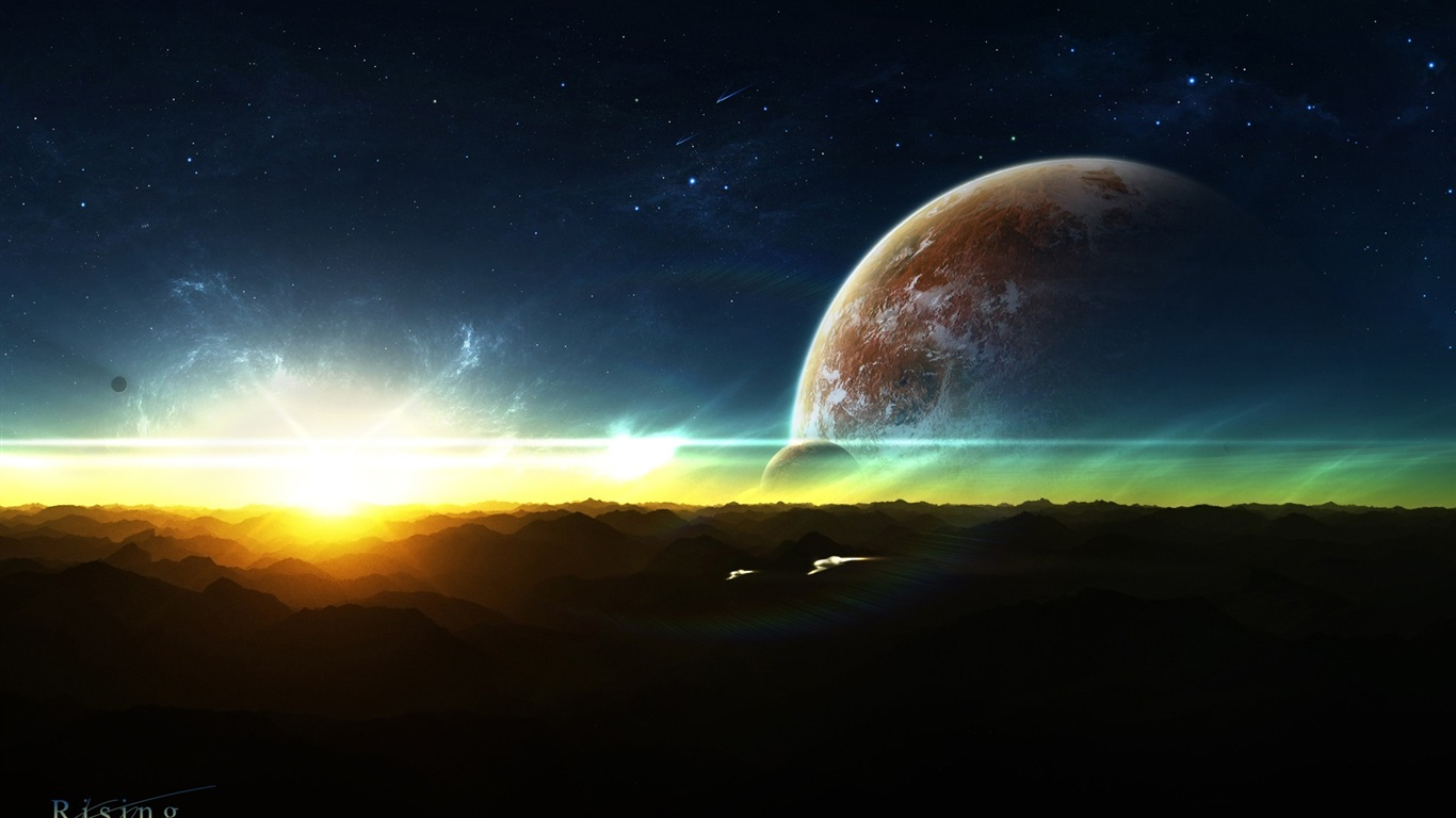 Download wallpaper 1366x768 rising space hd background for Space wallpaper 1366x768