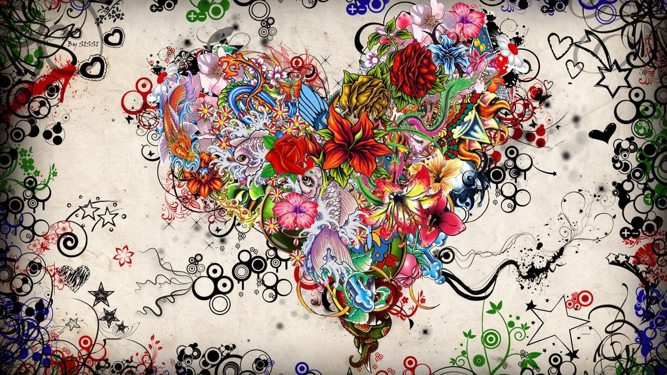 Сердца люблю искусство изображения