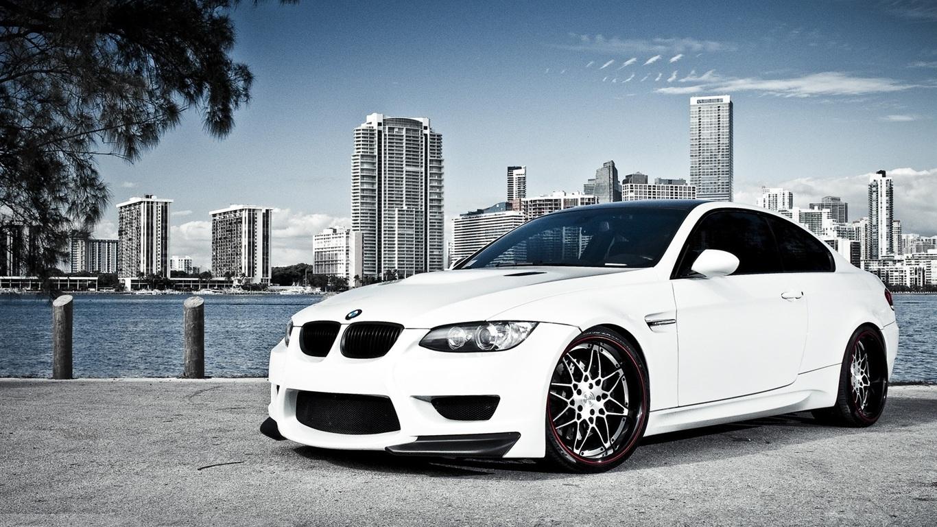 Wallpaper White BMW car 1920x1200 HD Picture, Image
