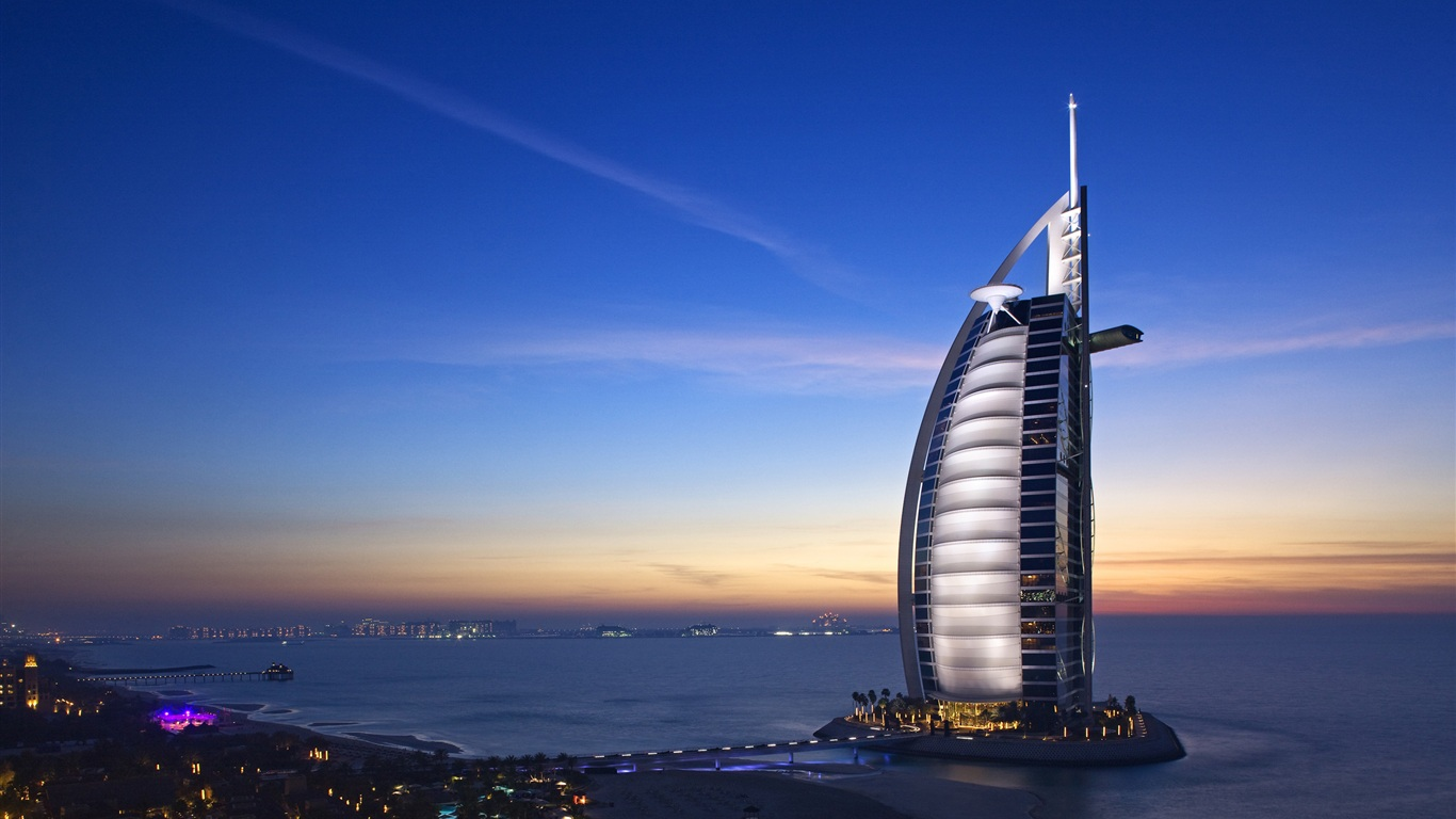 Download wallpaper 1366x768 dubai hotels burj al arab hd for Recommended hotels in dubai