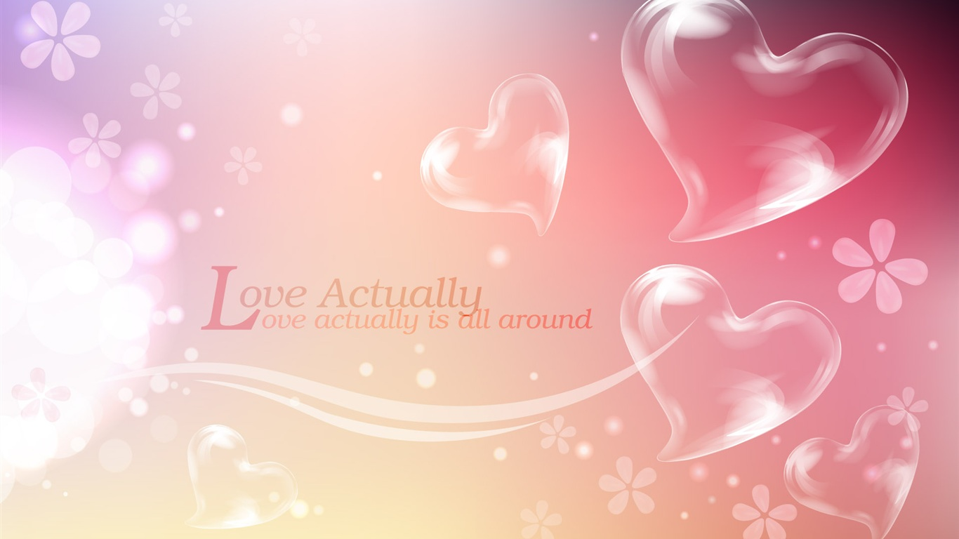 Love Is All Around Wallpaper : Download Wallpaper 1366x768 Love actually is all around HD Background