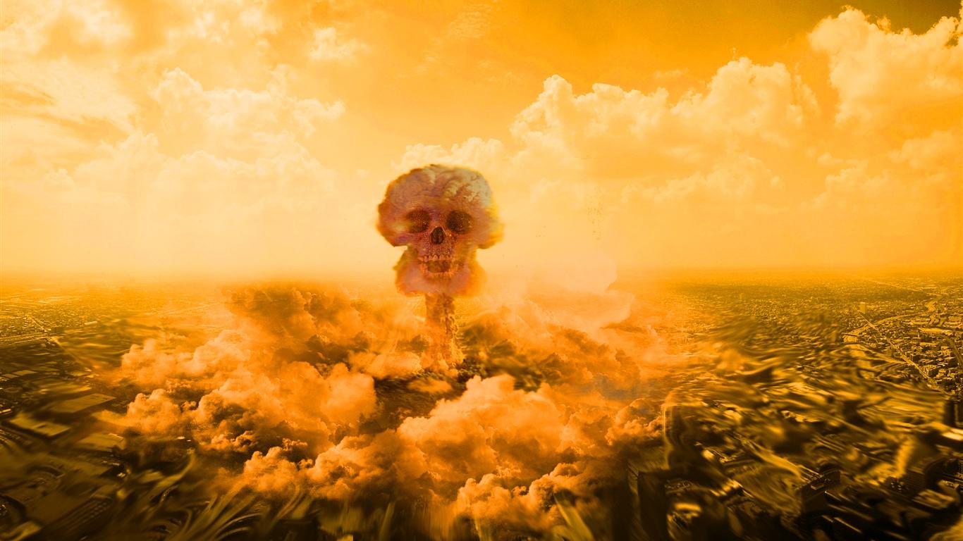Download Wallpaper 1366x768 Nuclear explosion mushroom ...