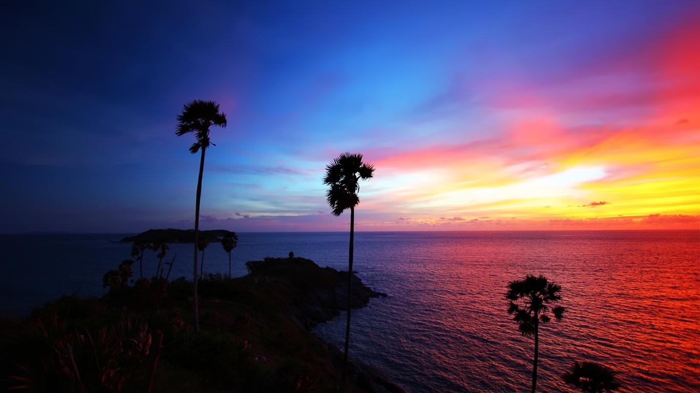 Wallpaper Thailand Beach Beautiful Sunset 1680x1050 Hd