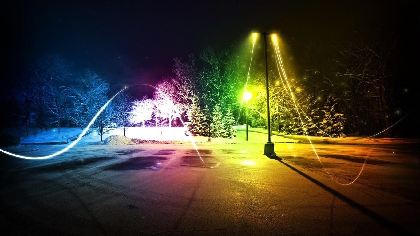 invierno abstracto de luces de colores fondos de pantalla
