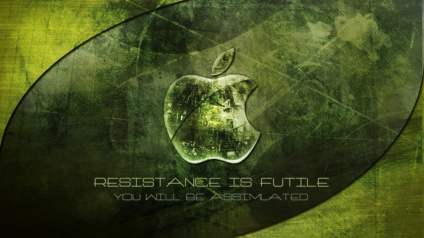 Wallpaper Apple Green Background 1920x1080 Full HD 2K