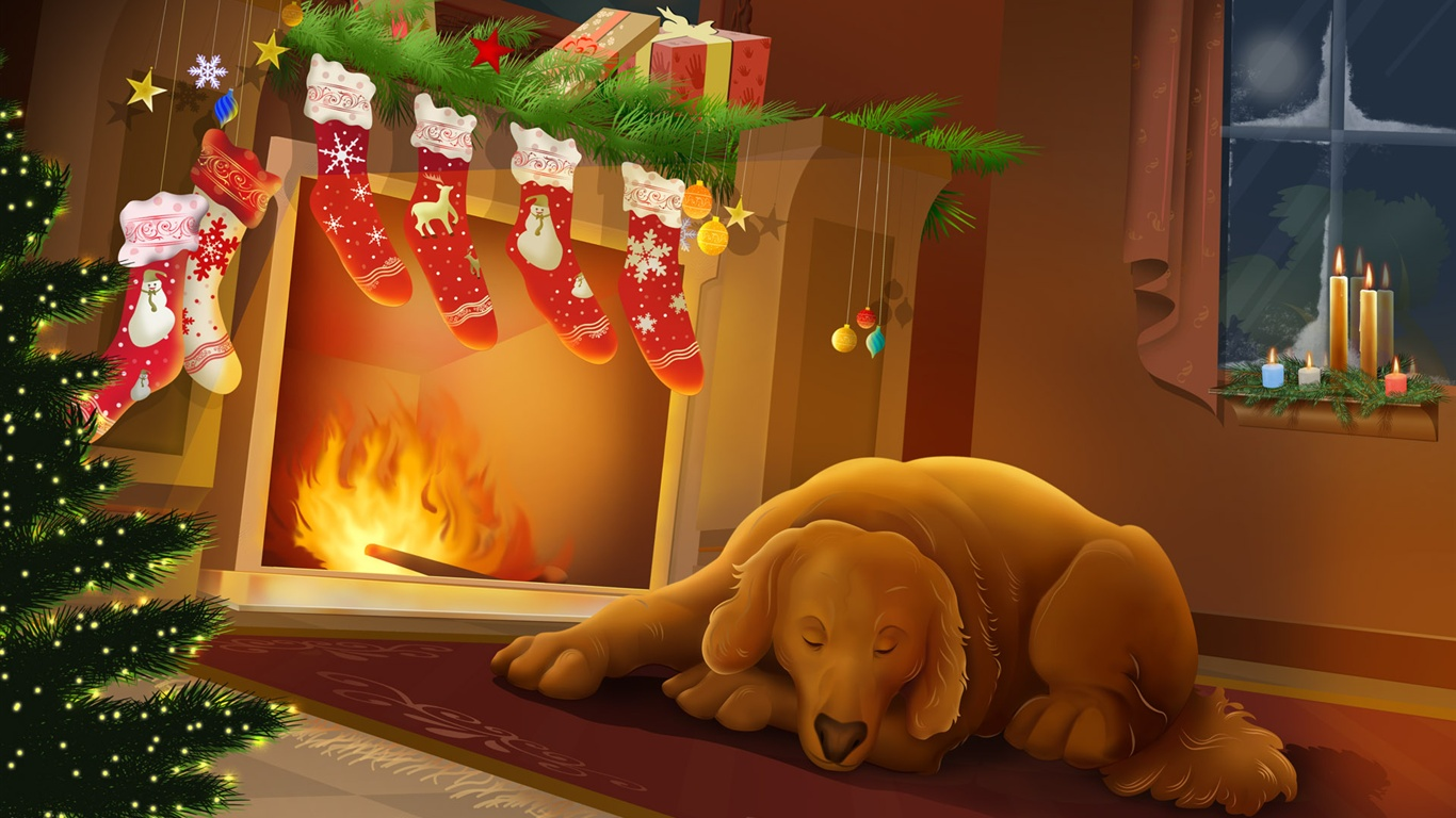 Frohe weihnachten hintergrundbilder - 1366x768