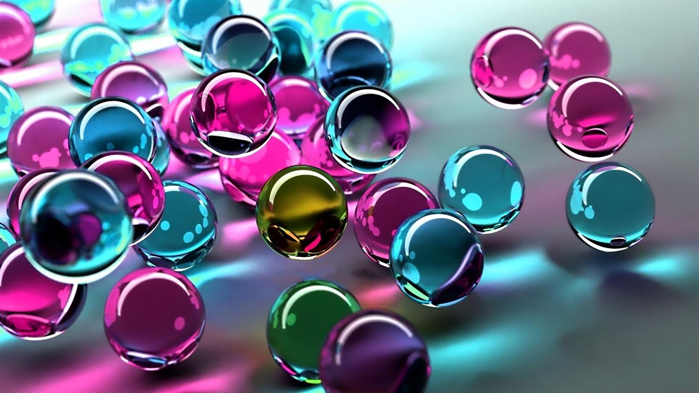 Bolas De Colores Cristal Fondos Pantalla 1366x768 Pictures