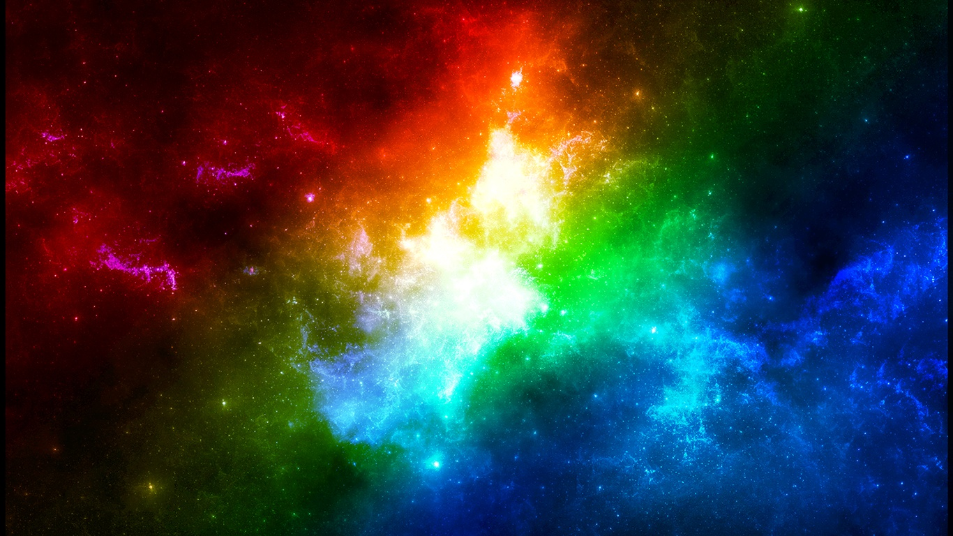 Colors in space wallpaper - 1366x768