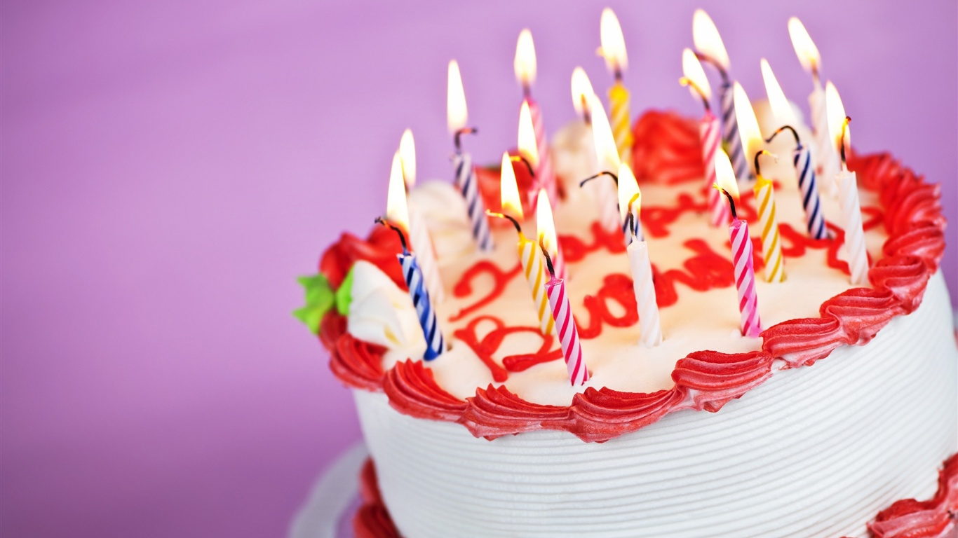Images Of Delicious Birthday Cake : Delicious birthday cake Wallpaper 1366x768 resolution ...