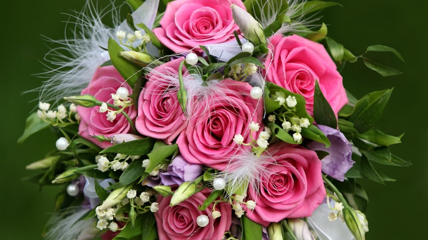 Wallpaper Flowers Gift Of Pink Roses 1920x1200 HD Picture Image