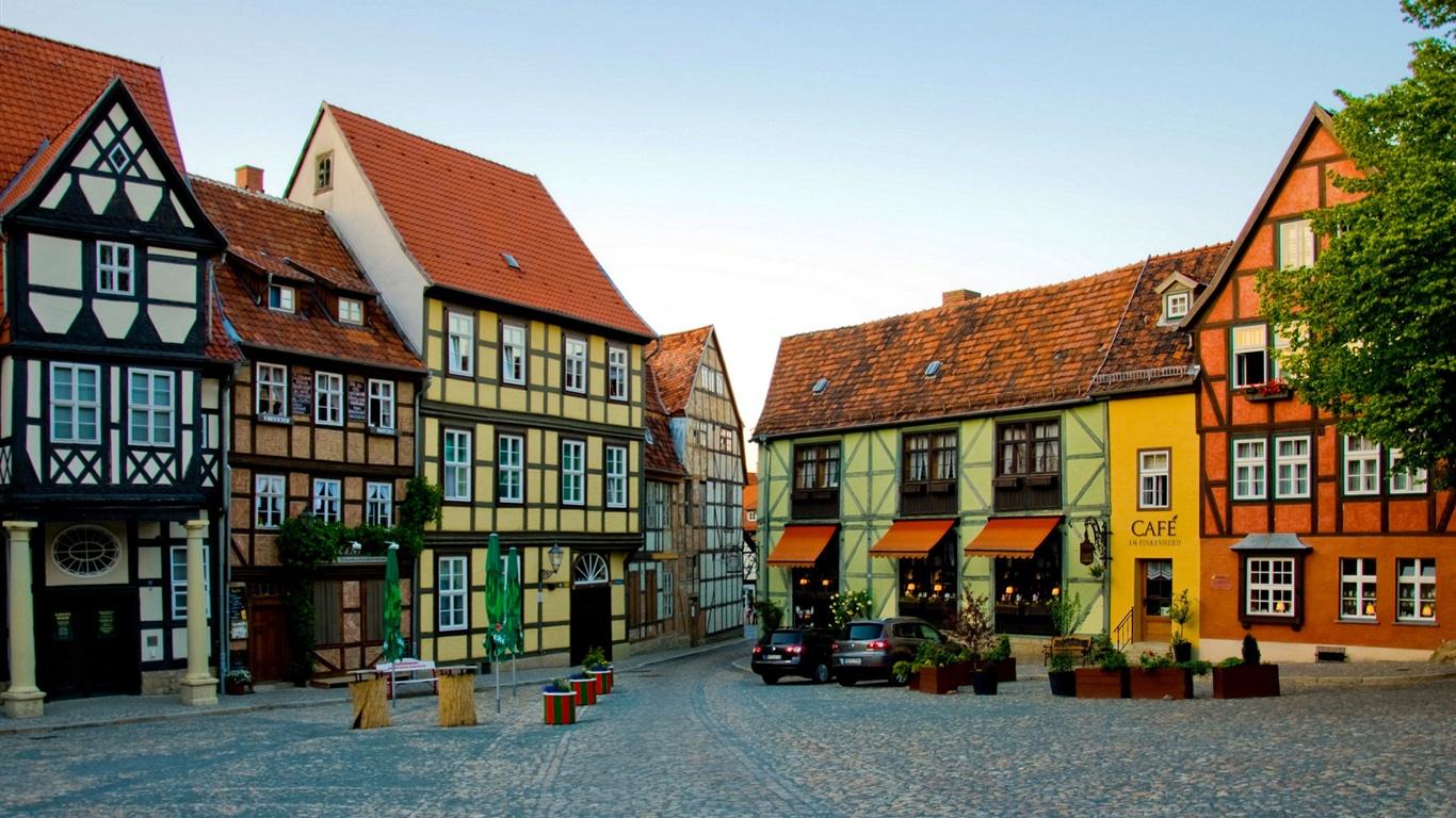ドイツの町の家 壁紙 - 1366x768   ドイツの町の家 壁紙