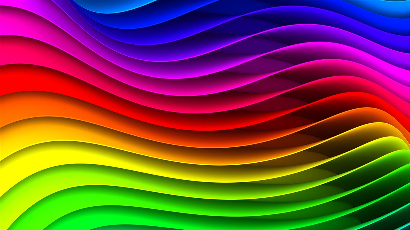 Wallpaper The Abstract Striped Waveform, The Colors Of The