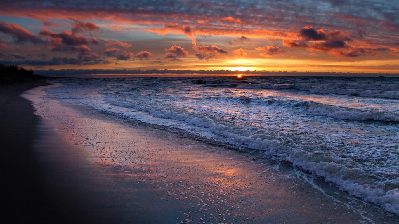 Wallpaper The Coast Beautiful Sunset Landscape 1920x1200 Hd