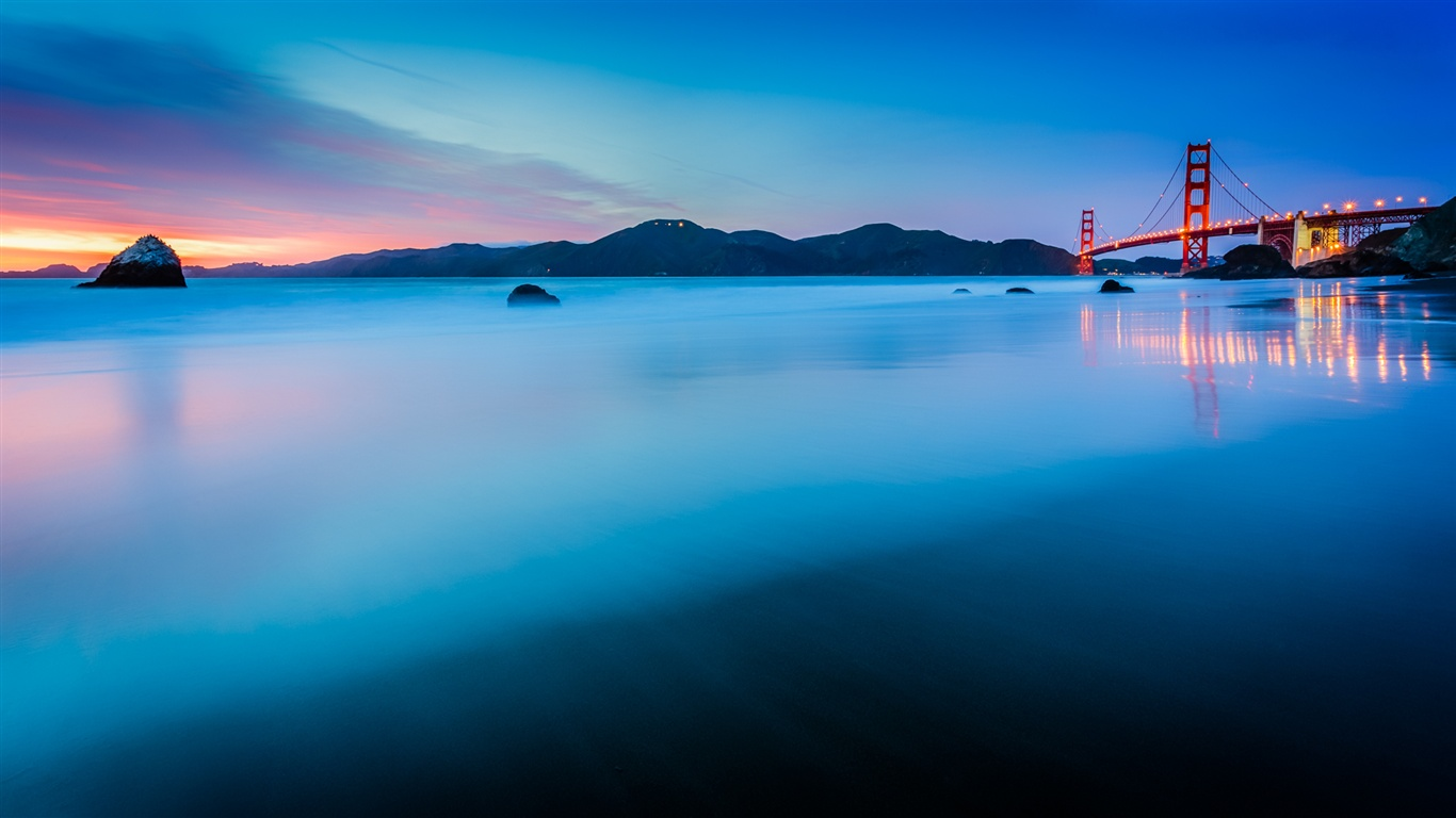 usa kalifornien san francisco golden gate bridge sonnenuntergang blue ocean. Black Bedroom Furniture Sets. Home Design Ideas