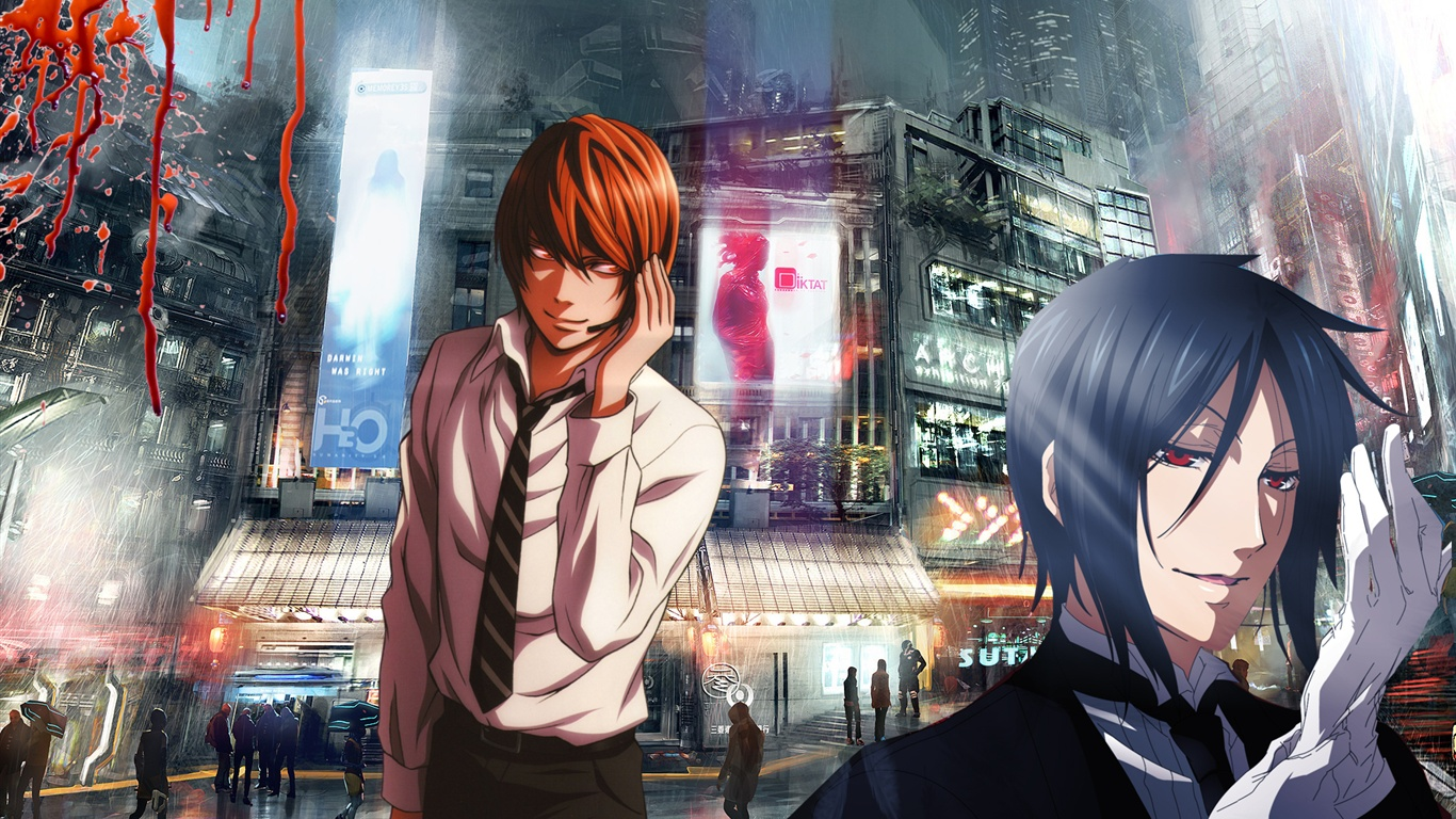 fond d'ecran anime 1366x768