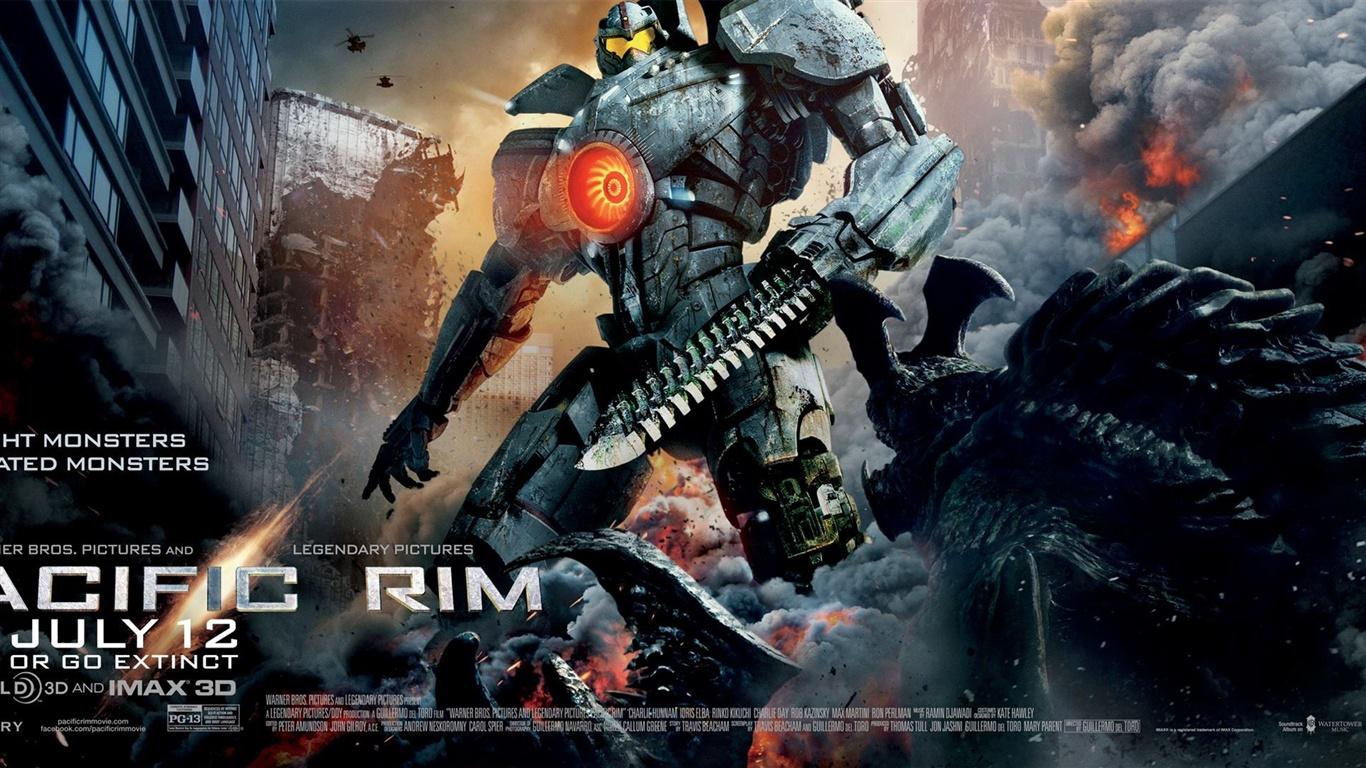 環太平洋地域、ロボットヒーロー 壁紙 - 1366x768   環太平洋地域、ロボットヒーロー