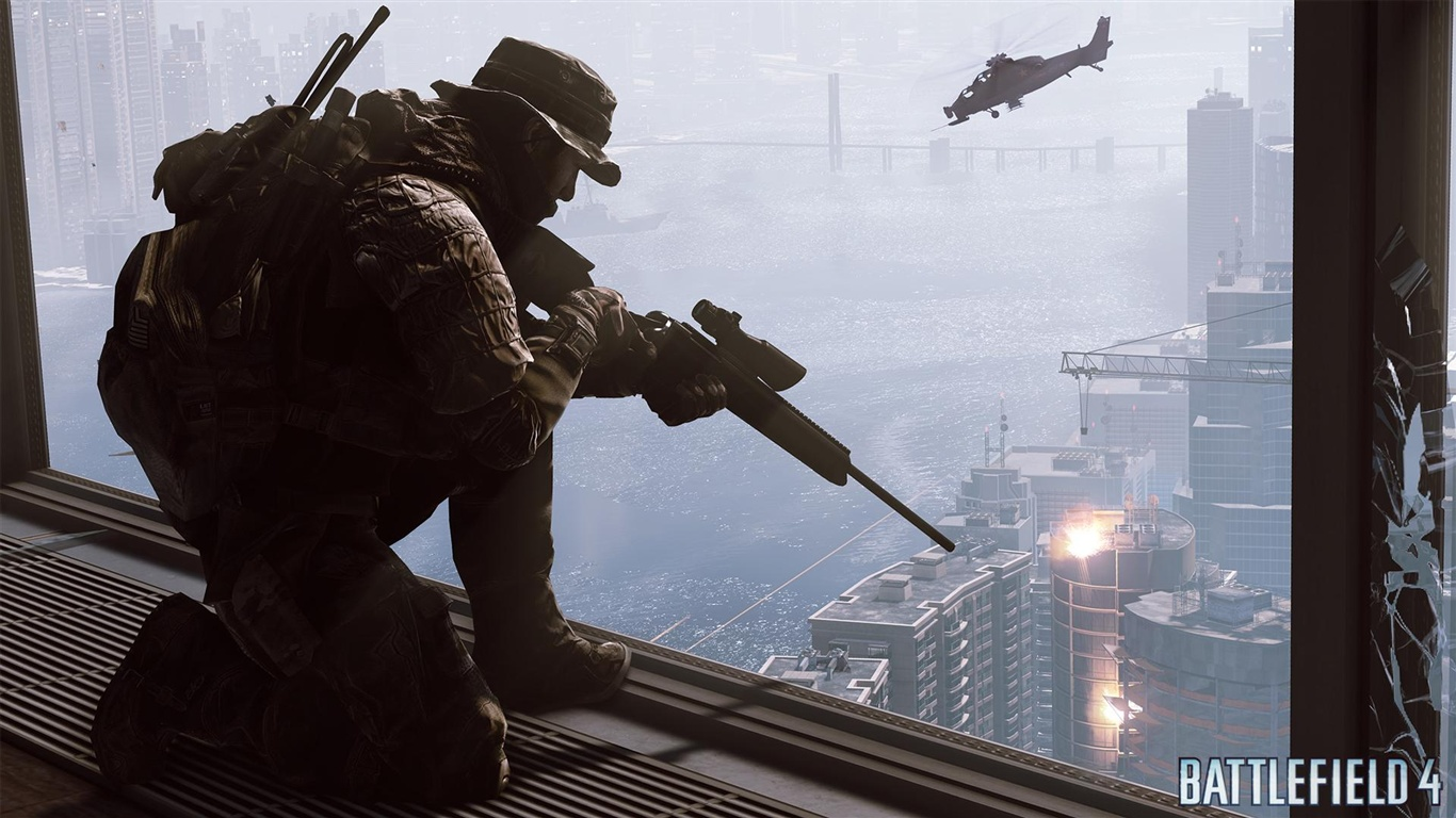 download wallpaper 1366x768 battlefield 4 sniper hd