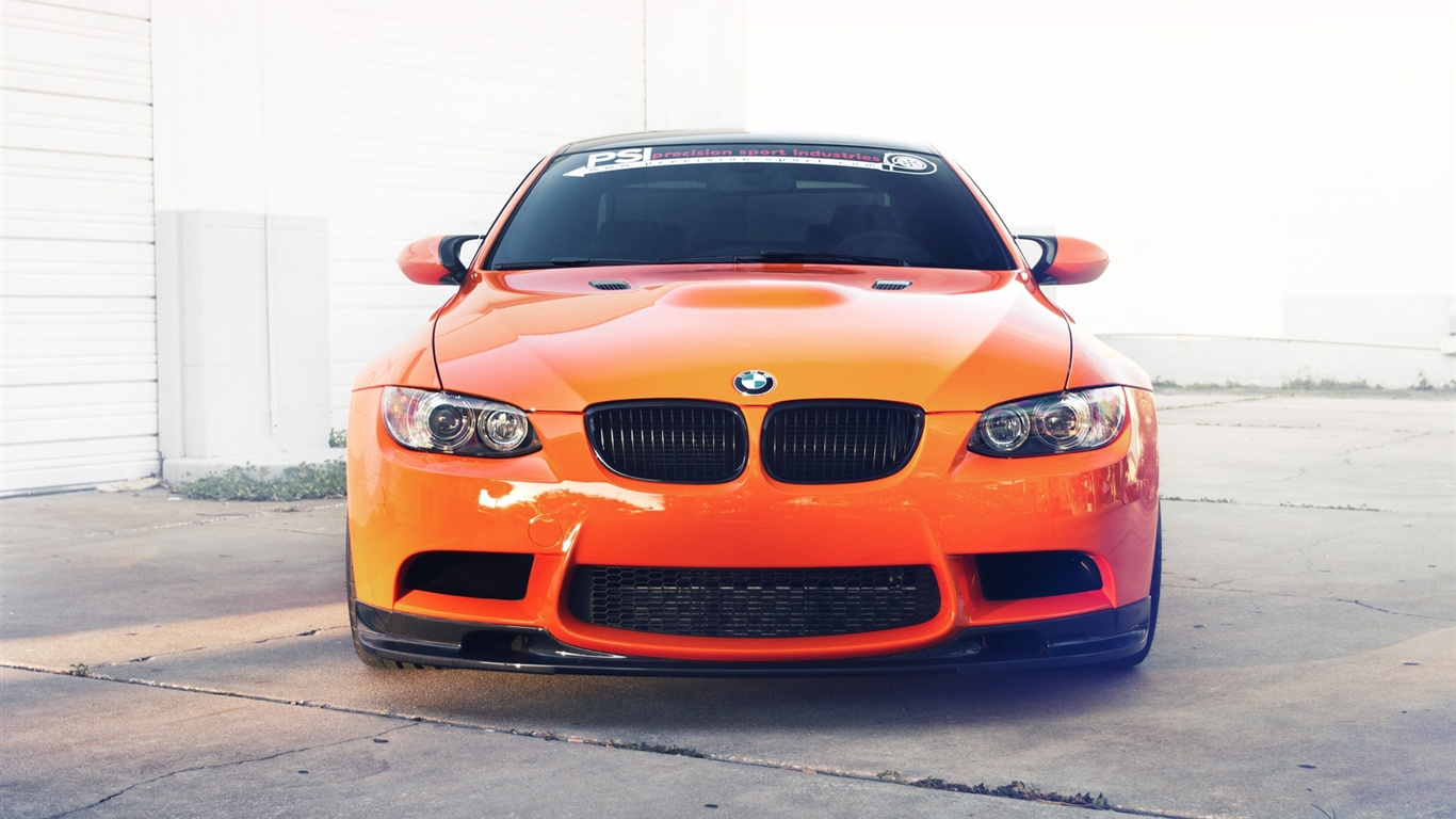 fonds d 39 cran bmw m3 e92 orange vue de face de la voiture 1920x1200 hd image. Black Bedroom Furniture Sets. Home Design Ideas