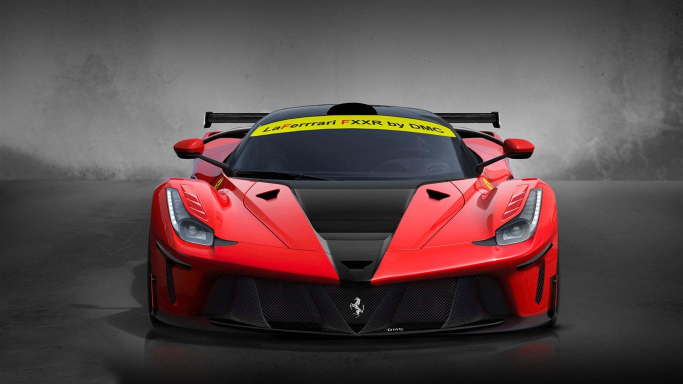 Dmc Laferrari Fxxr Red Supercar Wallpaper 1366x768