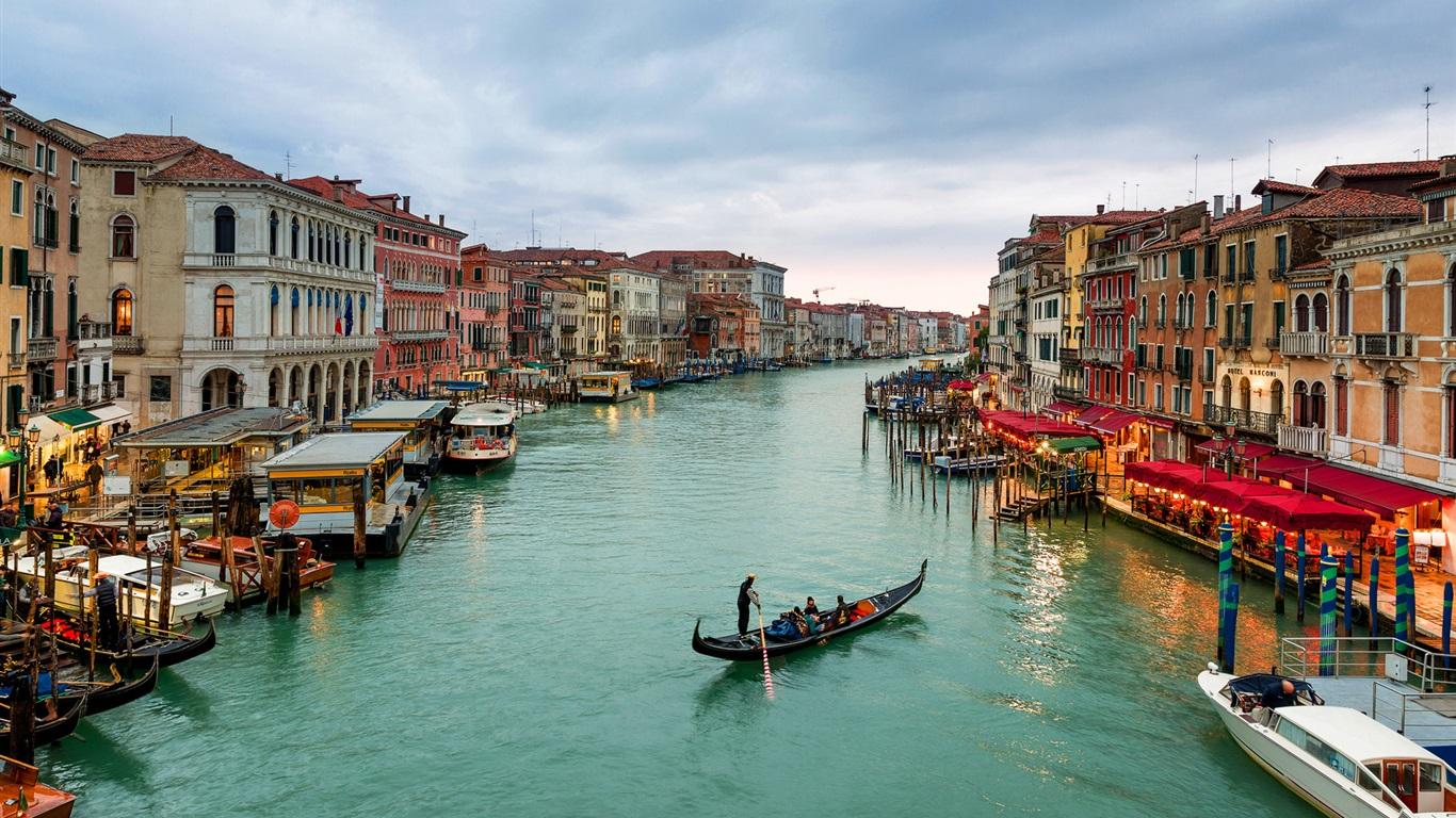 Обои Venezia, venice, italy, катер, канал, дома, венеция. Города foto 10