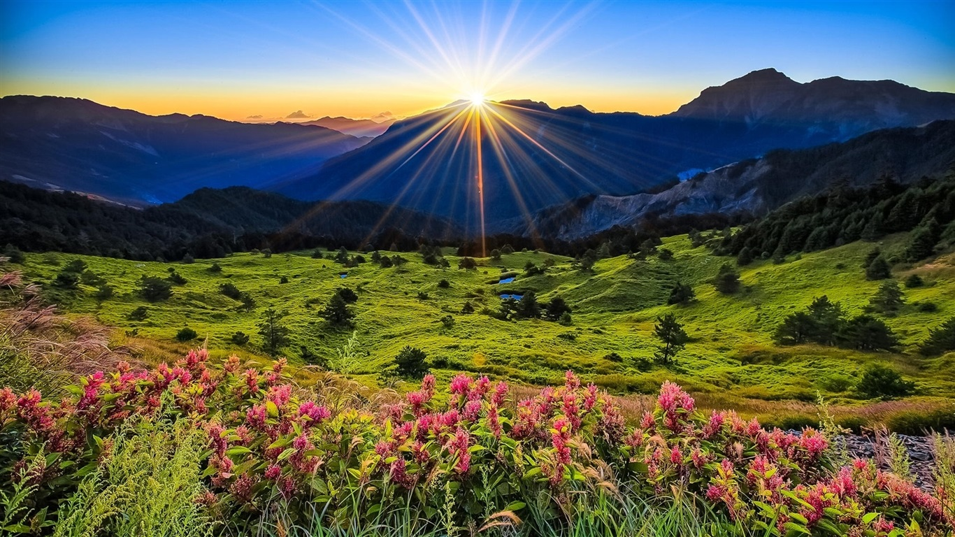 beautiful mountains sunrise wallpaper - photo #44