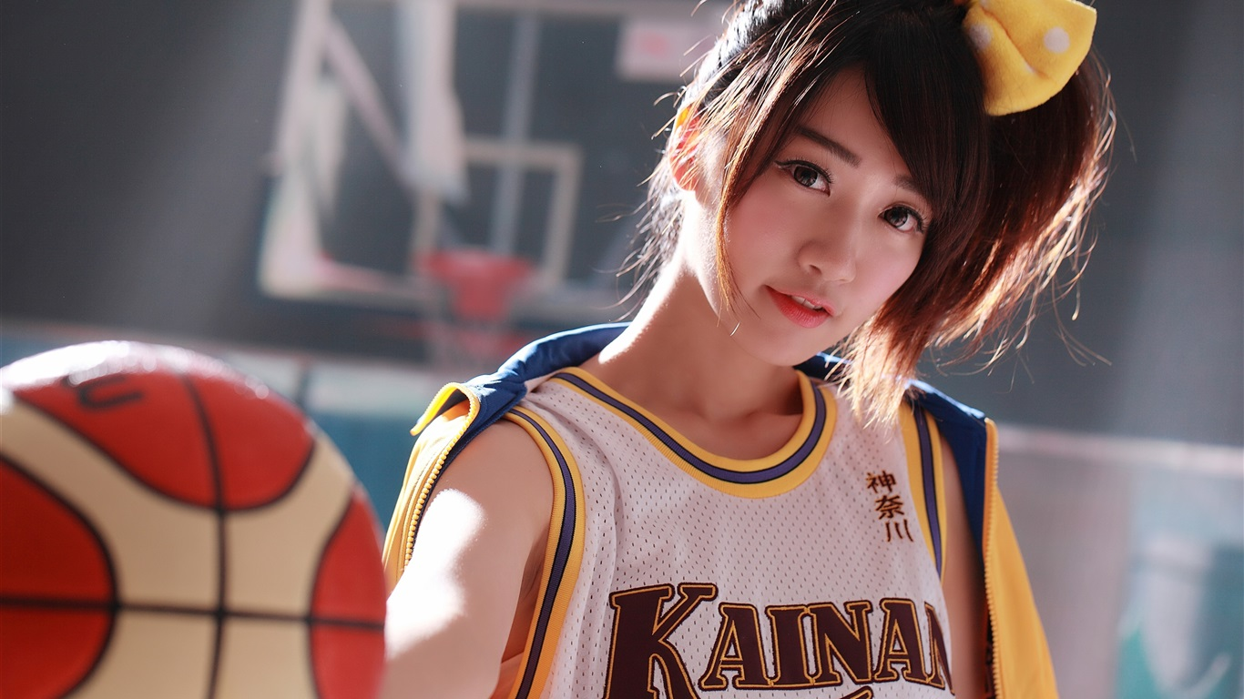 Japanese Girl, Basketball, Sports Uniform 750x1334 IPhone