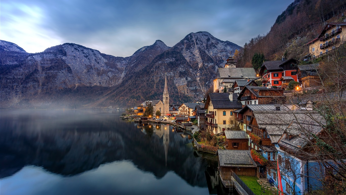Schöne Stadt, Hallstatt, Österreich, Alpen, See, die Berge, Häuser ...: de.best-wallpaper.net/Beautiful-town-Hallstatt-Austria-Alps-lake...