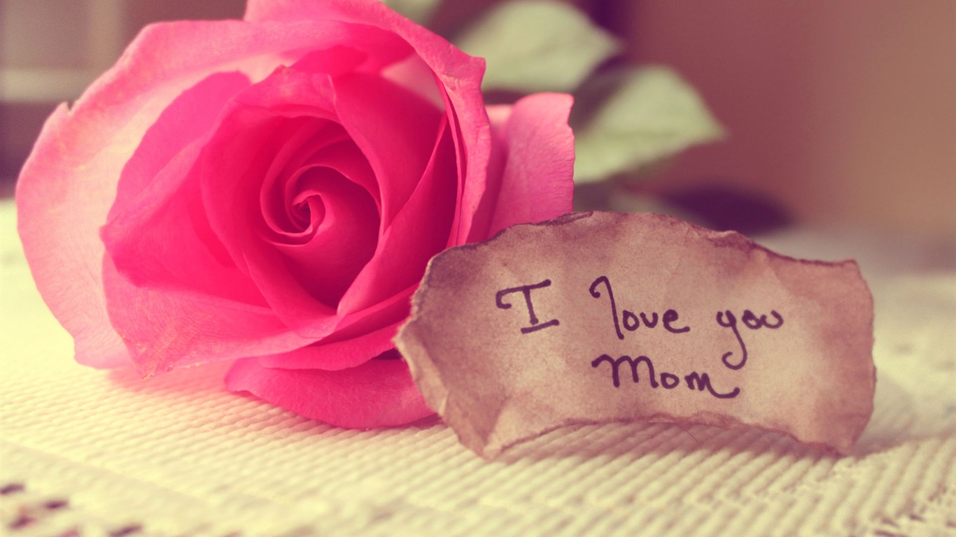 Best I Love You Wallpapers : happy mother s day rose wallpaper 1366x768 description i love you mom ...