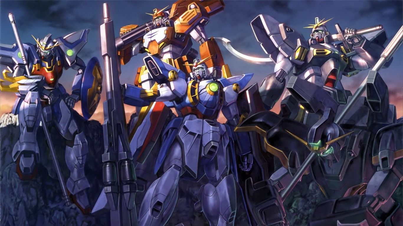 Download Wallpaper 1366x768 Mobile Suit Gundam HD Background