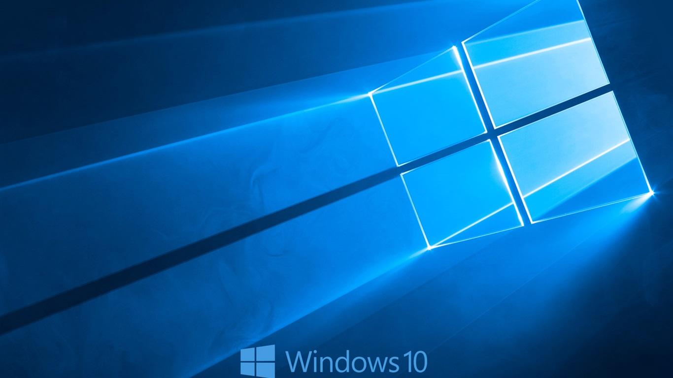 배경 화면 윈도우 10 체제 로고, 블루 스타일 배경 1920x1200 HD 그림, 이미지