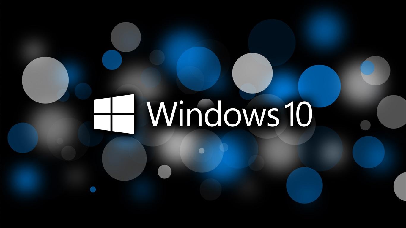 배경 화면 마이크로 소프트 윈도우 10 체제 로고, 원, 크리 에이 티브 디자인 2560x1600 HD
