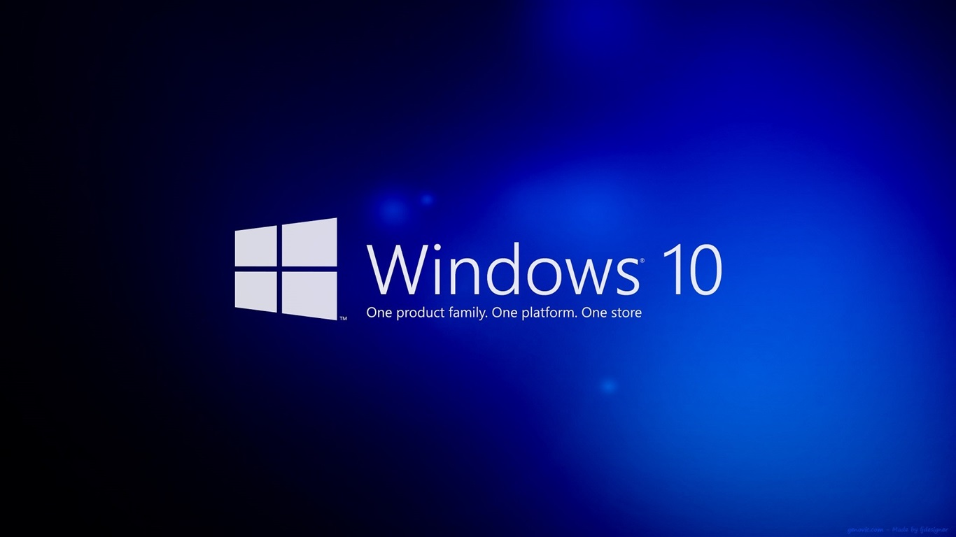 Wallpaper Windows 10, Blue Background 1920x1080 Full HD 2K