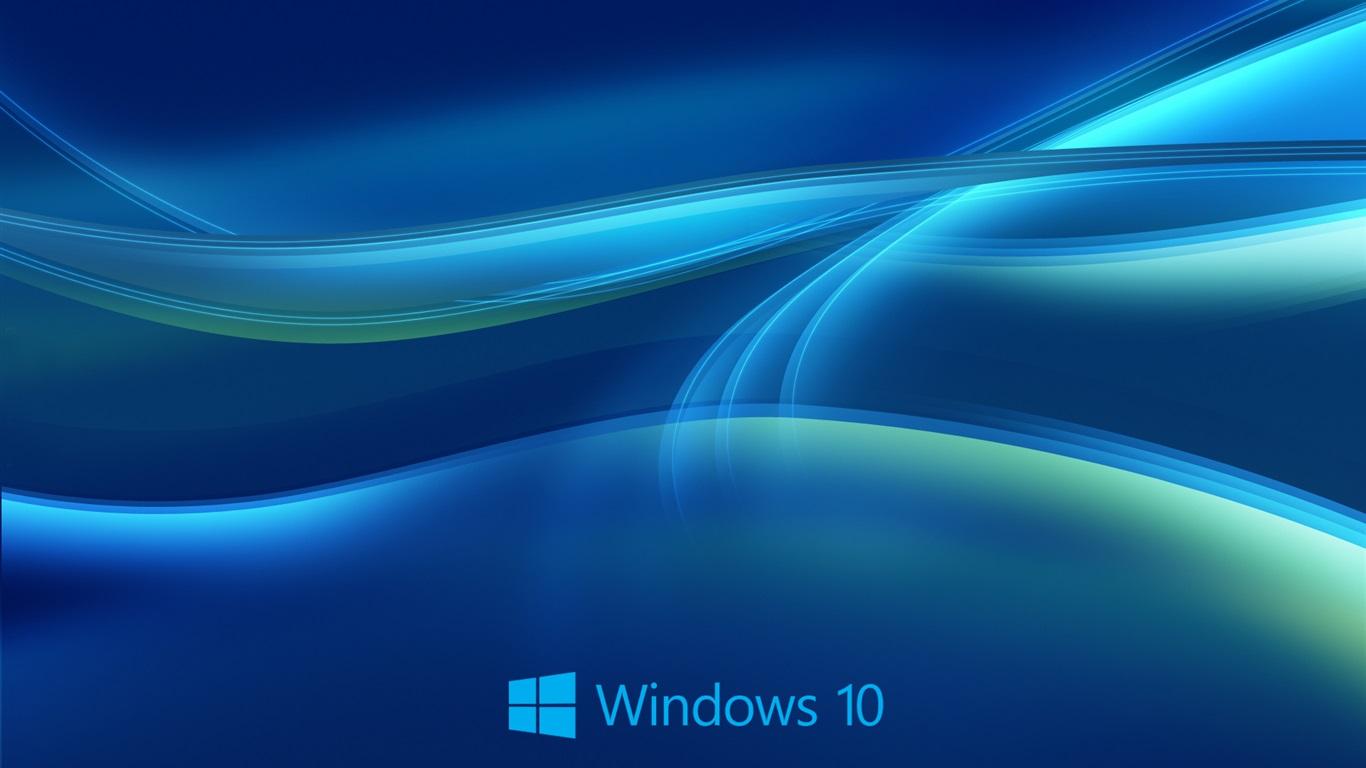 Fondos De Pantalla Sistema De Windows 10, Fondo Azul
