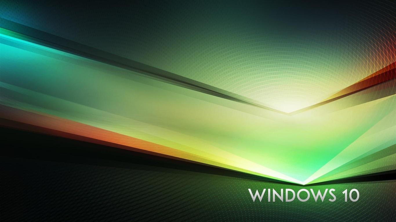 壁紙 Windowsの10のテーマ、緑の抽象的な背景 1920x1080 Full HD 2K 無料のデスクトップの