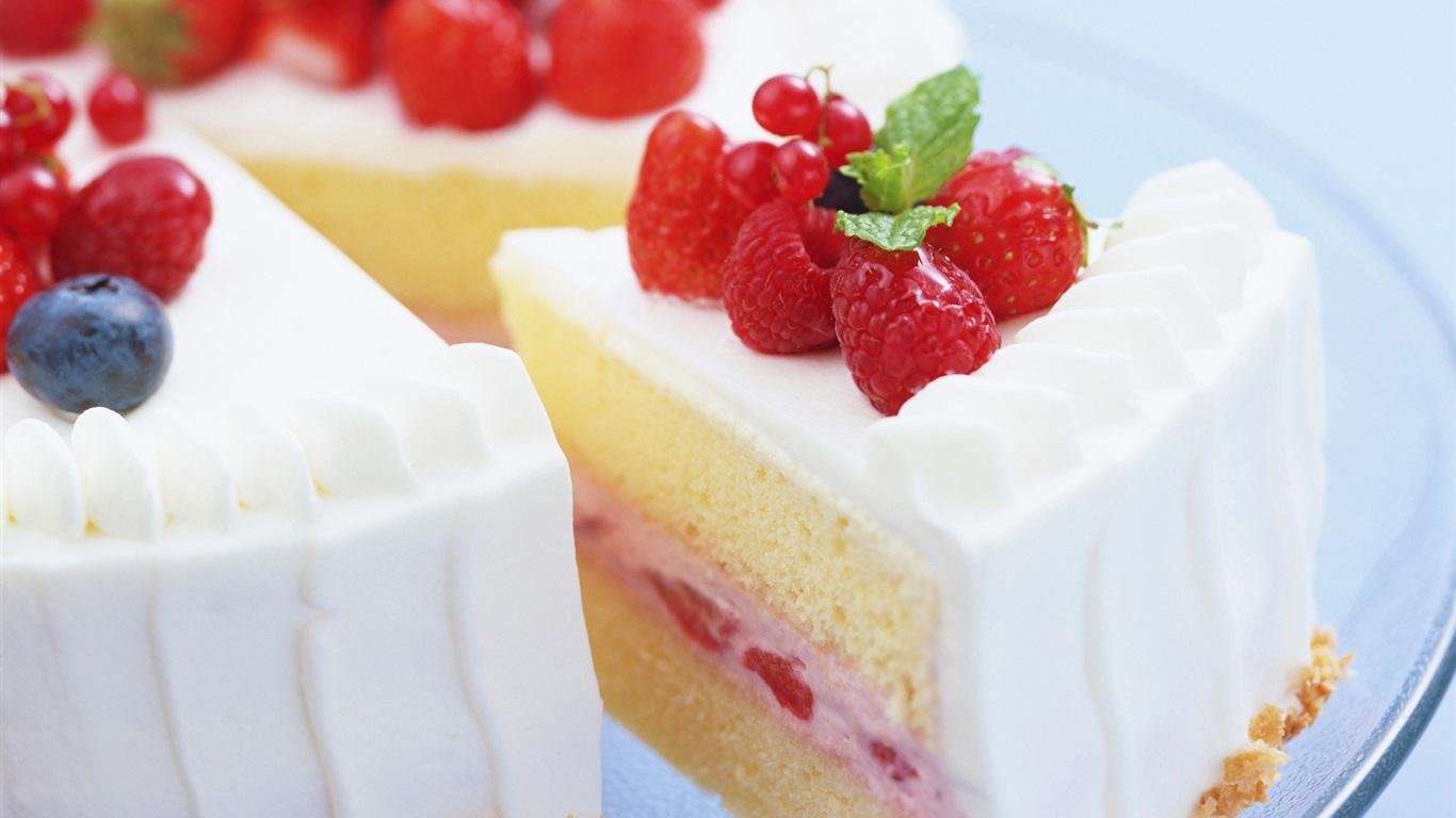 甜���/9�/9�9�%9�.��izj�_可口蛋糕,点心,甜食物,奶油,草莓 壁纸 - 1366x768