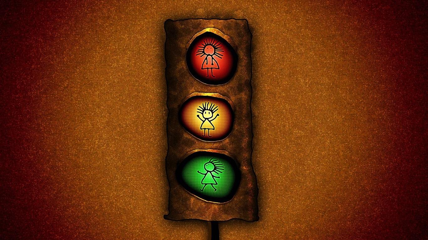 Fondo Fondos De Pantalla Verde Amarillo Y Rojo: Semáforo, Rojo Amarillo Y Verde Fondos De Pantalla