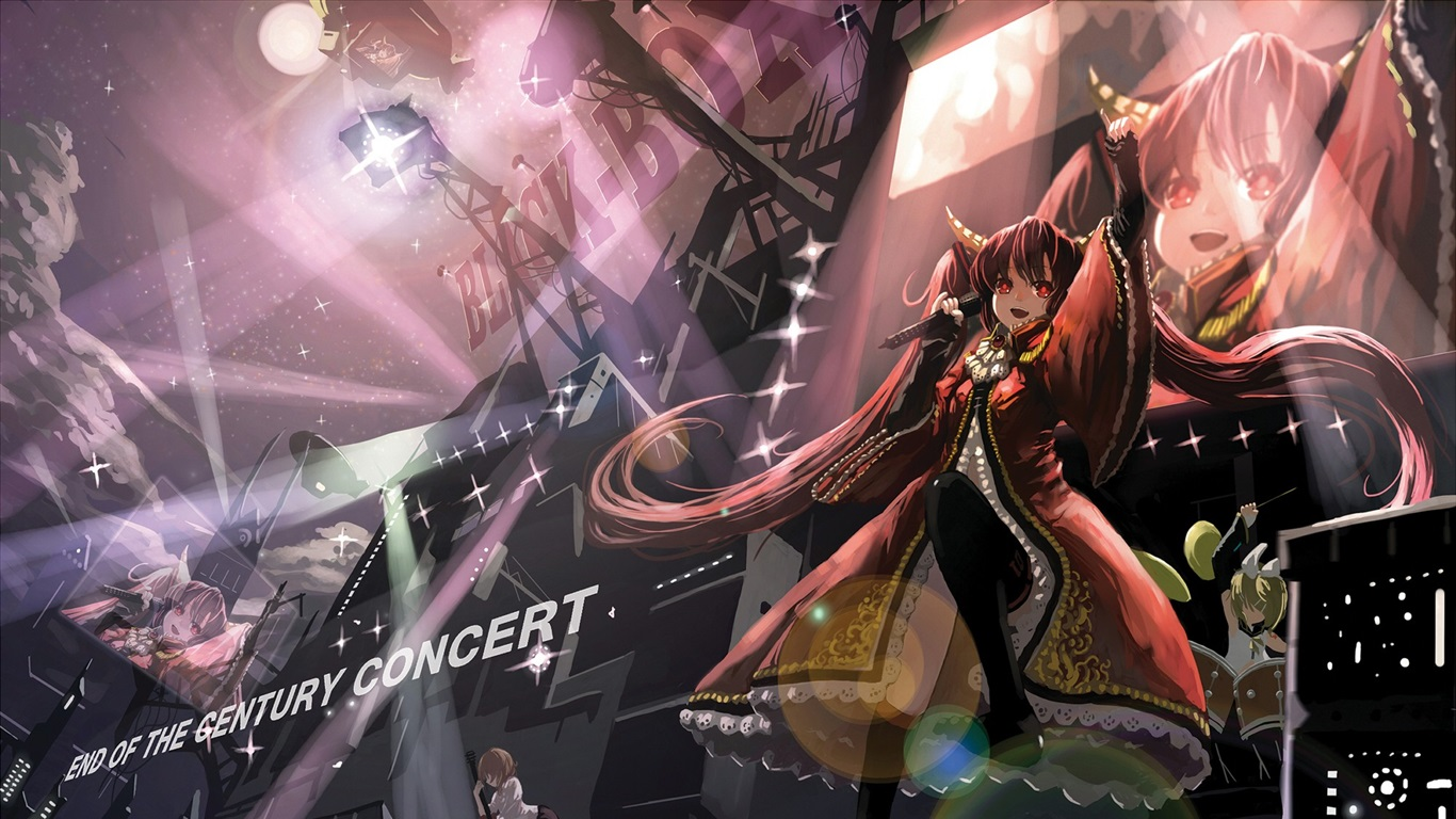 Wallpaper Anime Girl Singing Stage 1920x1440 Hd Picture Image