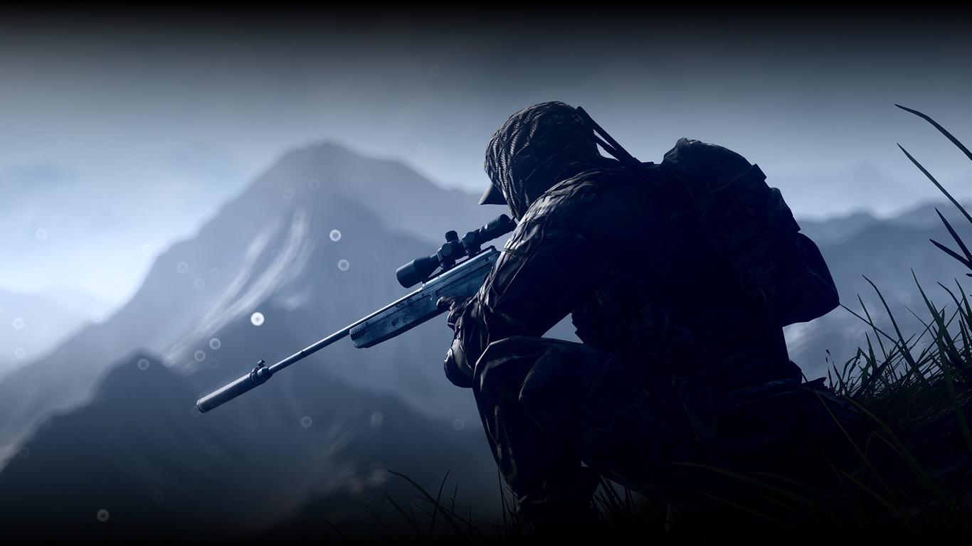 battlefield 4 soldier sniper wallpaper 1366x768