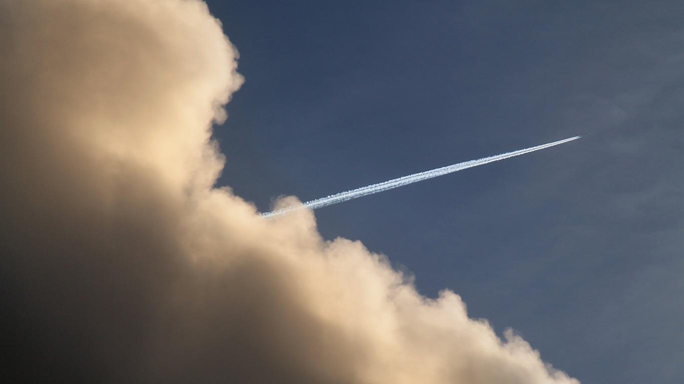 Обои дым, свет. Авиация foto 12