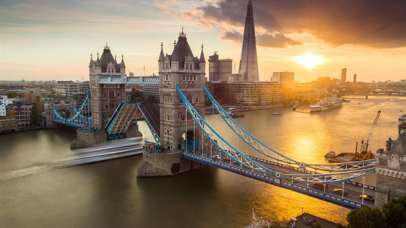 Download Wallpaper 1920x1080 River Sunset Bridge: 배경 화면 도시, 런던, 타워 브릿지, 강, 일몰 1920x1200 HD 그림, 이미지