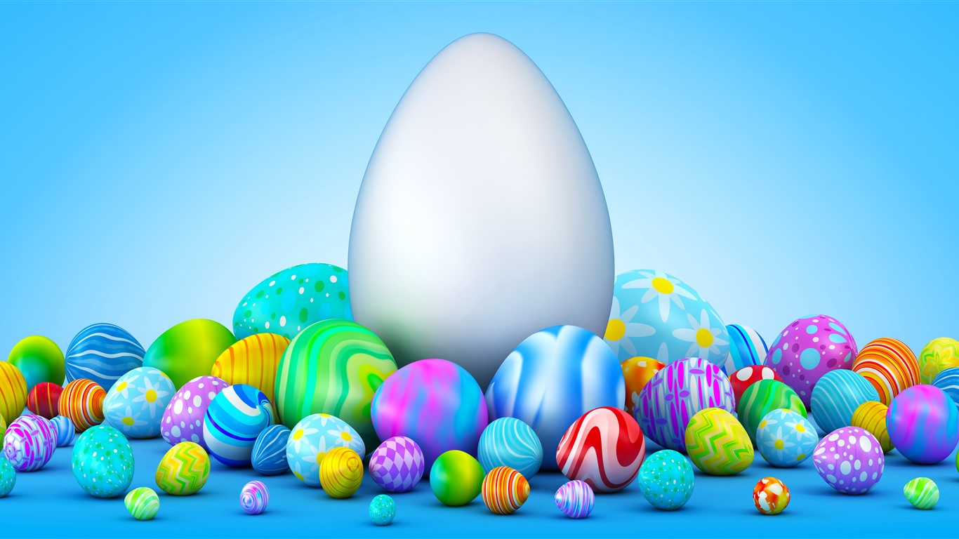 Colorful Easter Eggs, Creative 1125x2436 IPhone X