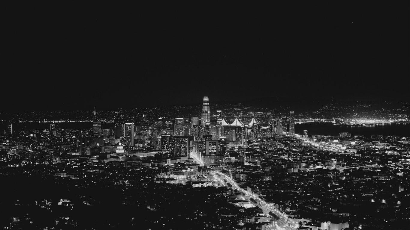 Papeis De Parede San Francisco Eua Noite Da Cidade Luzes