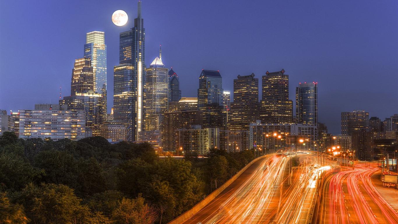 Обои филадельфия, philadelphia, ночь, сша. Города foto 9