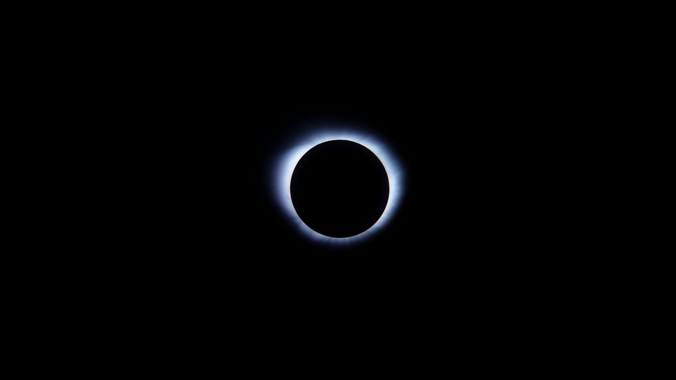 Fonds Décran Eclipse Lune Lueur Fond Noir 2560x1440 Qhd