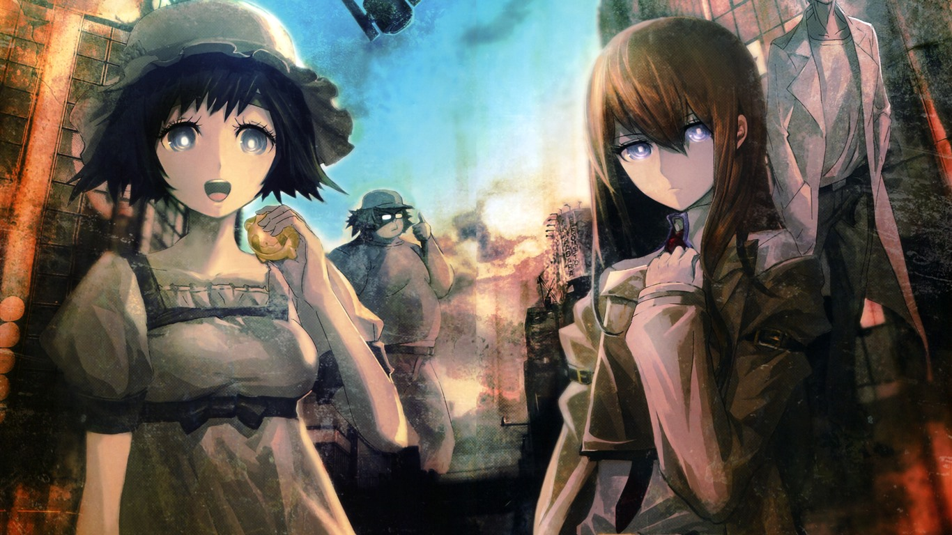 Wallpaper Steins Gate Girls Anime 5120x2880 Uhd 5k Picture