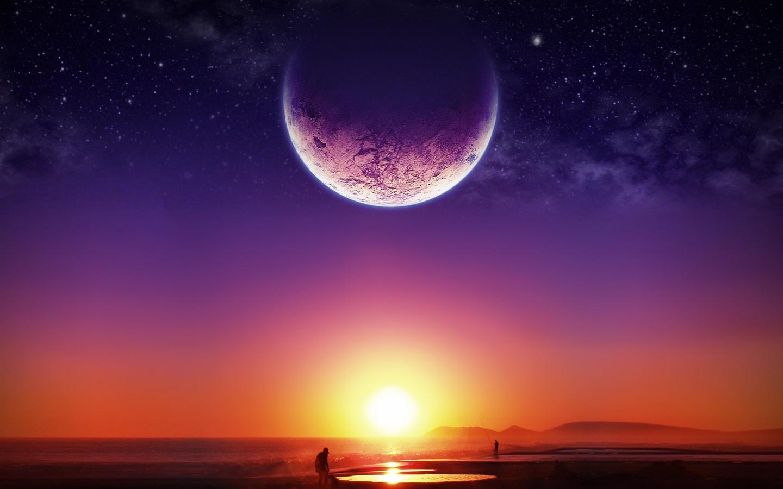 壁紙 月はその夕暮れ時に近い 1600x1200 HD 無料のデスクトップの背景, 画像